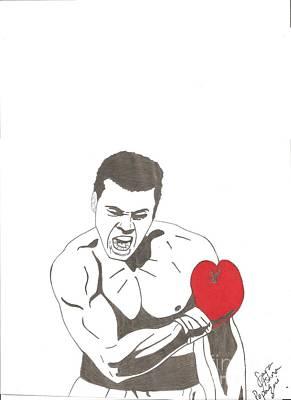Mohammad Drawing - Mohammad Ali by Sara Ashna