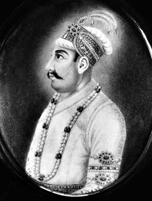 Fine Art India Painting - Mohammad Shah (1702-1748) by Granger