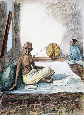 Mohandas Gandhi (1869-1948) Art Print