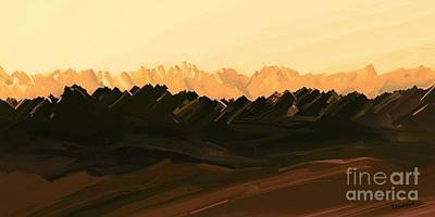 Painting - Mohave Desert Mountains by Tim Richards