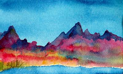 Painting - Mohave Mountains by Anne Duke