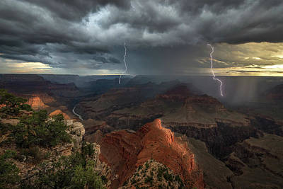 Mohave Point Thunderstorm Art Print