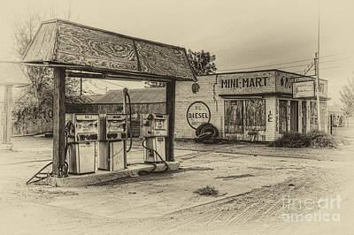 Photograph - Mohawk Mini Mart In Sepia by Eddie Yerkish