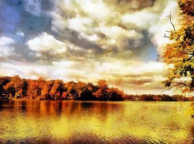 Digital Art - Mohegan Lake 2 by Derek Gedney