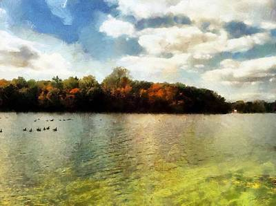 Painting - Mohegan Lake 3 by Derek Gedney