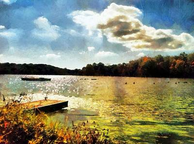 Painting - Mohegan Lake Gold by Derek Gedney