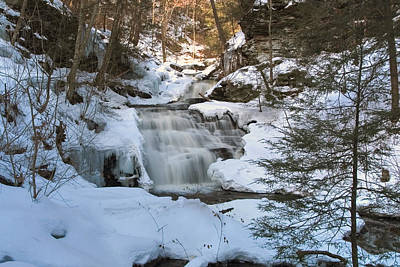 Photograph - Mohican Falls Surrounded By Winter White by Gene Walls
