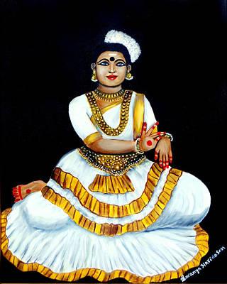 Painting - Mohiniyattam by Saranya Haridasan
