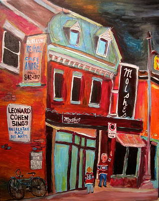 St. Lawrence Blvd Painting - Moishe's On The Main by Michael Litvack