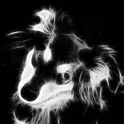 Digital Art - Moja - Black And White by Marlene Watson