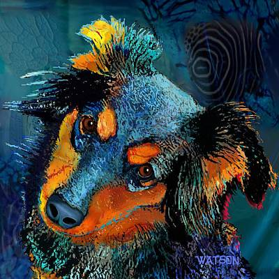 Digital Art - Moja .... Much Loved Dog by Marlene Watson