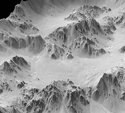 Mojave Crater Art Print by Jpl-caltech/university Of Arizona/nasa/science Photo Library