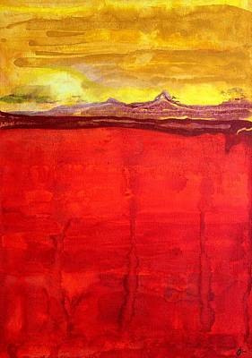 Mojave Dawn Original Painting Art Print by Sol Luckman