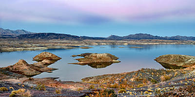 Photograph - Mojave Desert Lake by Renee Sullivan