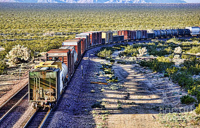 Photograph - Mojave Desert Train By Diana Sainz by Diana Raquel Sainz