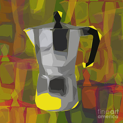 Digital Art - Moka Pot by Jean luc Comperat