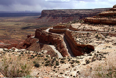 Photograph - Moki Dugway Begins by Butch Lombardi