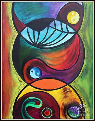 Painting - Molecules Of Charged Emotions.. by Jolanta Anna Karolska