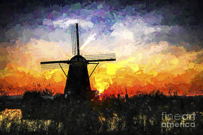 Photograph - Molen In Paint by Rick Bragan