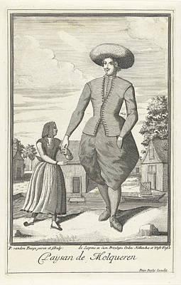 Molkwerum The Netherlands, Farmer, Pieter Van Den Berge Art Print by Pieter Van Den Berge