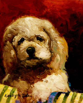 Painting - Molly - Dog Puppy Art by Kanayo Ede