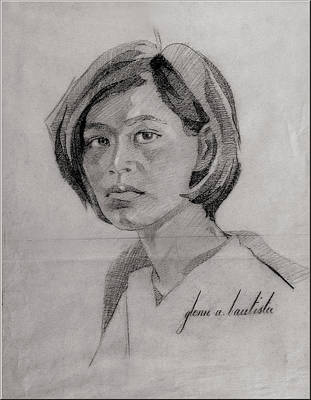 Drawing - Molly 1967 by Glenn Bautista