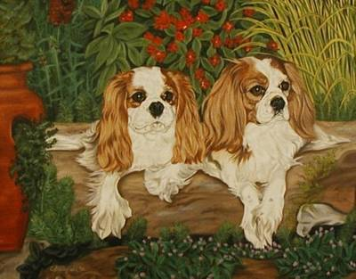 Painting - Molly And Lucy by Cynthia Brassfield