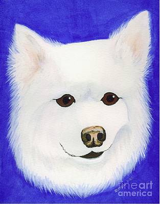Painting - Molly The American Eskimo Dog by Lori Ziemba