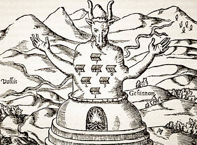 Mountain Drawing - Moloch by Italian School