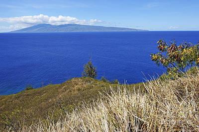 Molokai Island Viewed From Maui Island Art Print by Sami Sarkis