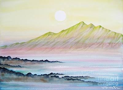 Painting - Molokai Peaks by Frances Ku