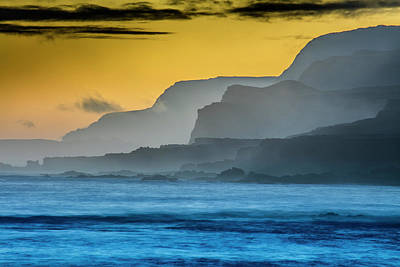Repetition Photograph - Molokais North Shore Sea Cliffs by Richard A Cooke Iii.