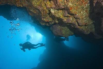 Molokini, Maui, Hawaii, Usa Scuba Diver Art Print
