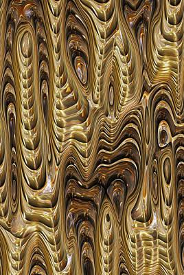 Salt Water Digital Art - Molten Flow by Jack Zulli