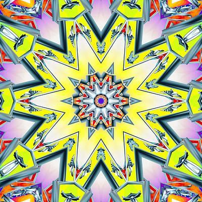 Digital Art - Molten Star by Derek Gedney