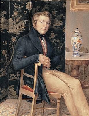 Molteni Giuseppe, Man Portrait In An Art Print by Everett