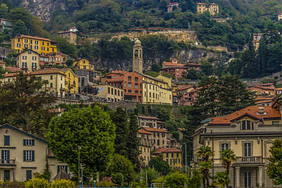 Lake Como Digital Art - Moltrasio Heights by Capt Gerry Hare
