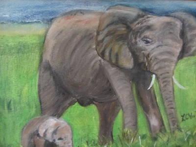 Mom And Baby In Kenya Art Print