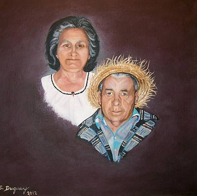 Painting - Mom And  Dad by Sharon Duguay