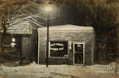 Photograph - Mom And Pop Barber Shop by Andee Design