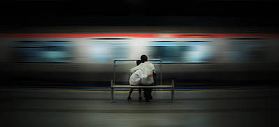 Train Station Photograph - Mom!  Do Not Leave Me... by Ademhabibe