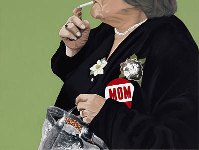 Hamburger Painting - MOM by Marcella Lassen
