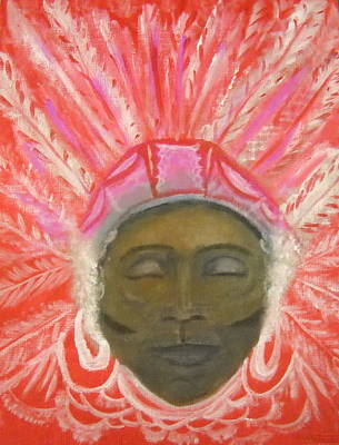 Mardi Gras Painting - Moment Before Singing by Marian Hebert