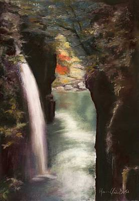 Moment Of Eternity - Takachiho Falls Art Print by Marie-Claire Dole