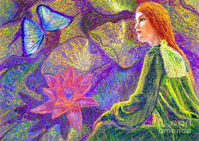 Visionary Art Painting -  Meditation, Moment Of Oneness by Jane Small