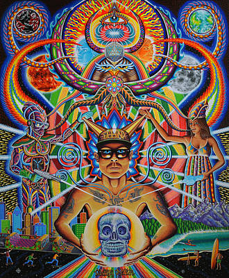 Trippy Painting - Moment Of Truth by Chris Dyer