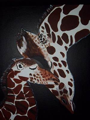 Momma And Baby Art Print by Donna Bird