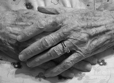 Mommas Hands Art Print