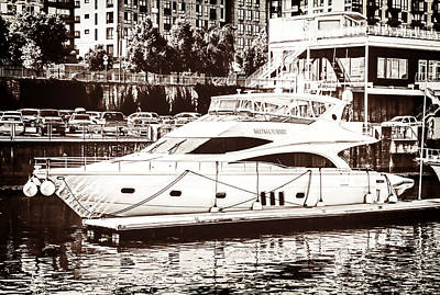 Mixed Media - Momousse Yacht In Montreal by Boris Mordukhayev