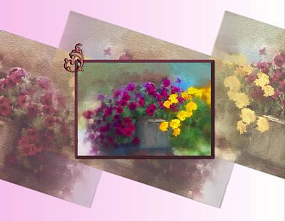 Montana Digital Art - Moms Garden Art by Susan Kinney